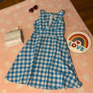 ModCloth Mata Traders Gingham Dress size M